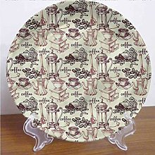 8 Inch Kitchen Customized Dinner Plate,Coffee