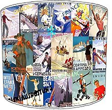 8 Inch Table skiing lampshades14