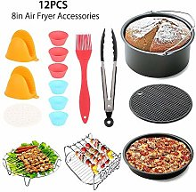 8 inch XL Air Fryer Accessories 12 pcs with Recipe