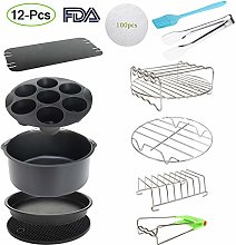 8 Inch XL Air Fryer Accessories 12Pcs for Cozyna