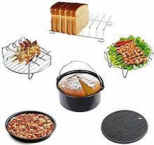 8 inch XXL Air Fryer Accessories Set of 6 for