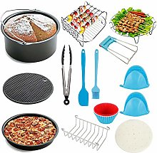 8 Inches 17 Pcs Air Fryer Accessories Set for