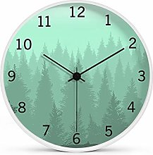 8 Inches Modern Wall Clock, Non Ticking Silent