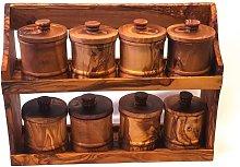 8-Jar Free-Standing Spice Rack August Grove
