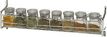8-Jar Wall Mounted Spice Rack Symple Stuff