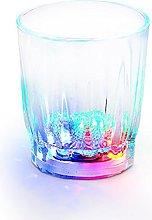8 LED Flashing Shot Glasses Novelty Plastic Light