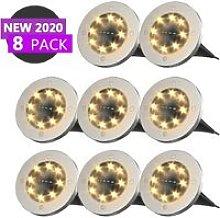 8 LED solar spotlight - Floor lighting - Outdoor