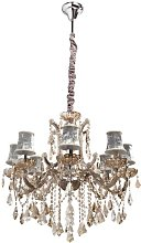 8-Light Shaded Chandelier Willa Arlo Interiors