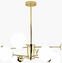 8 Lights Gold Sputnik Chandelier Modern Matte