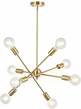 8 Lights Modern Sputnik Chandelier Lighting with