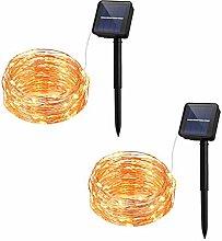 8-Modes Solar Powered String Lights, 100 LED 2
