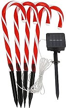 8 Pack Christmas Decoration Candy Cane Lights,