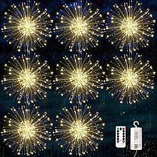 8 Pack Firework Lights, 120 LED Starburst Lights,