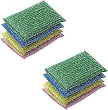 8 Pack Scrubbing Sponges - Double Side Metallic