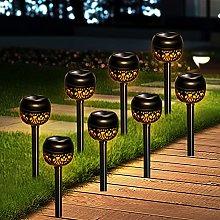 8 Pack Warm White Solar Garden Lighting,