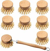 8 Pack Wooden Kitchen Dish BrushInclude 1