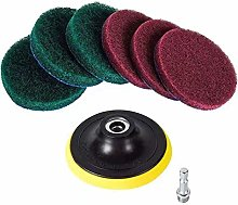 8 Pcs Electric Wash Cleaning Kit - 6 Scouring Pads