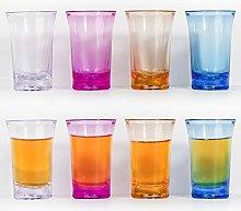 8 PCS Shot Glass-Four-Color Shot Glass Set-1.2 Oz