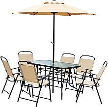 8 Pieces Dining Set Furniture Garden Foldable