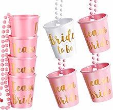 8 Pieces Shot Necklace Glass, Bachelorette and