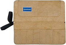 8 Pocket Suede Leather Chisel & Tool Roll