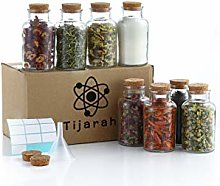 8 Spice Jars with Cork Lids (350ml) - Spice
