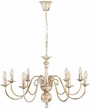 8 Way Ceiling Light Chandelier - Distressed Effect
