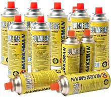 8 X Butane Gas Canisters Bottle Camping Portable
