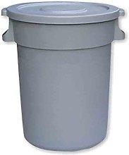 80 Litre Heavy duty Waste Bin grey base and flat