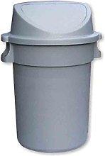 80 Litre Heavy duty Waste Bin grey base with push