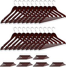 80 x Wooden Coat Hanger, Clothes Hangers for