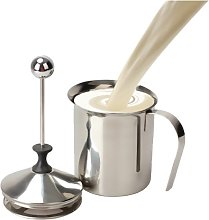 800mL Stainless Steel Handheld Milk Frother Jug