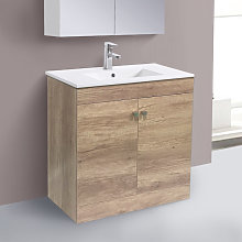 800mm 2 Door Light Oak Effect Wash Basin Cabinet