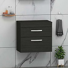 800mm Bathroom Vanity Unit 2- Drawer Wall Hung