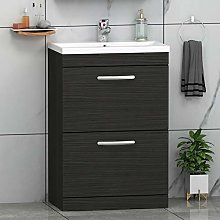 800mm Floor Standing Bathroom Vanity Unit Mid Edge
