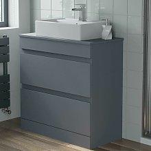 800mm Grey Bathroom Furniture Countertop Vanity