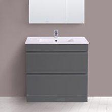 800mm Grey Bathroom Vanity Unit Basin Floor