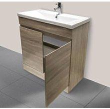 800mm Grey Oak Effect Bathroom Vanity Unit Basin