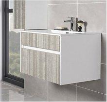 800mm Wall Hung 2 Drawer Bathroom Vanity Basin