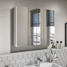 800mm Wall Hung 3 Door Mirrored Bathroom Cabinet