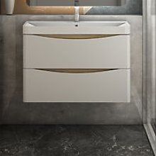 800mm Wall hung Bathroom Sink Vanity Unit with