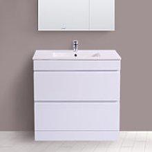 800mm White Bathroom Vanity Unit Basin Floor