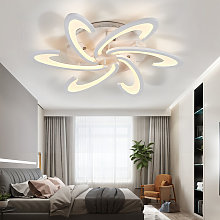 80CM Ceiling Light Floral Crystal LED Pendant Lamp