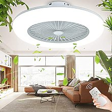 80W Ceiling Fan with Lighting Modern Quiet LED Fan