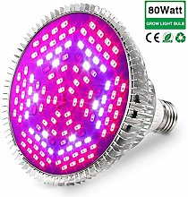80W Grow Light Bulb Full Spectrum, Plant Lights