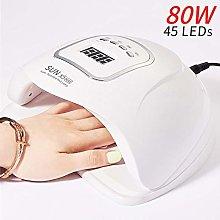 80W nail lamp professional manicure UV LED ice
