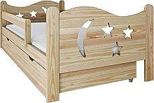 (80x160 cm, Natural wood) NeedSleep® Fall
