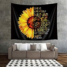 80X60, Large Size Sunflower Wall Tapestry Natural