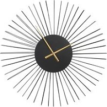 80x80cm matte black wire clock