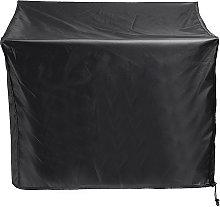 82 * 82 * 61cm Black Dustproof Outdoor Fireplace